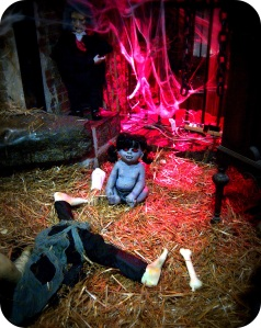 creepy baby at Chelsea Market