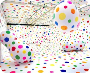 Yayoi Kusama multicolor dots obsession