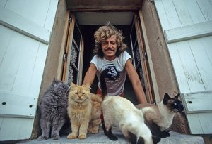 Antoine with cats