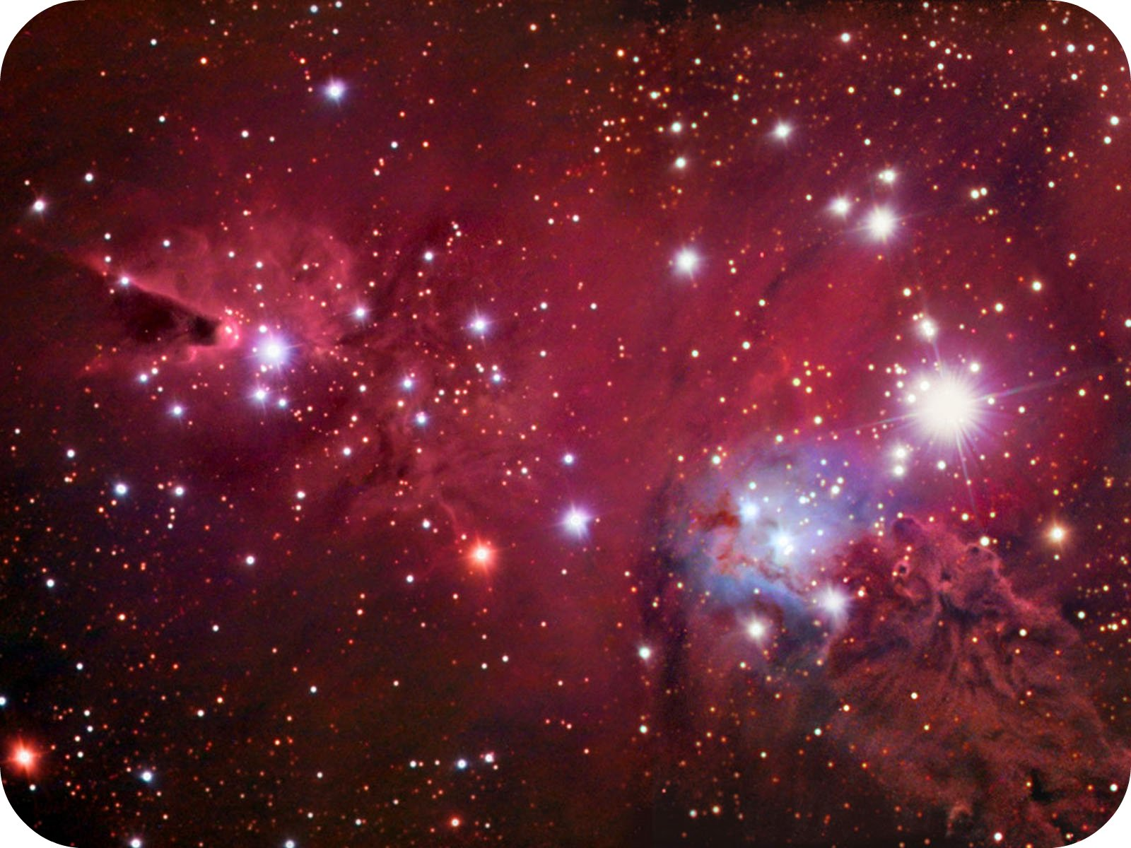 pink and purple nebula - photo #14