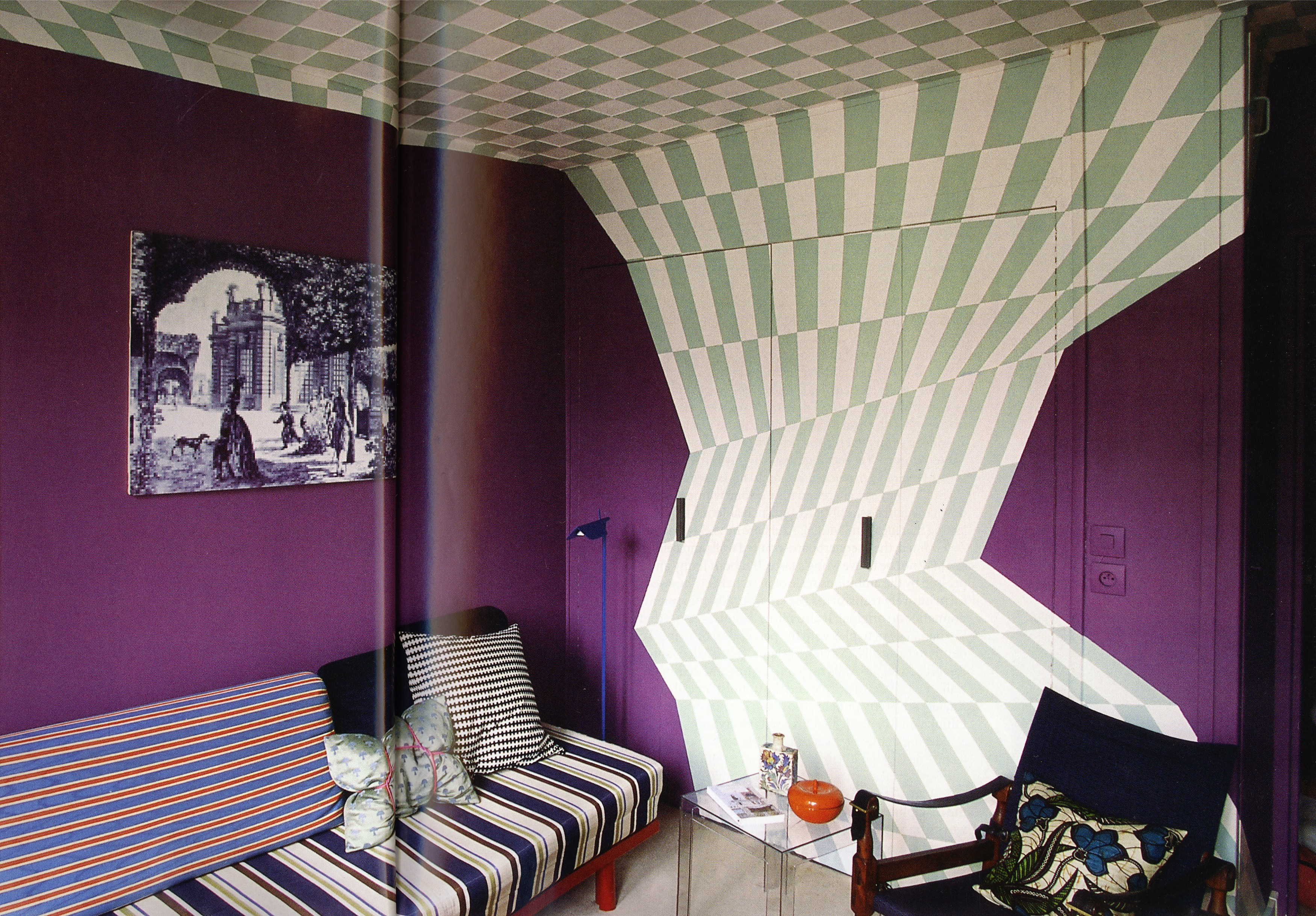 Writers lunar camel co for Cool interior paint designs