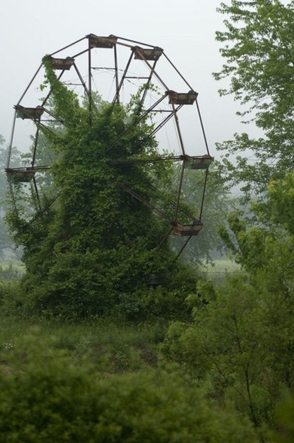 overgrown ferris wheel via beaucolburn.com