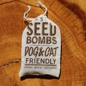dog and cat seed bombs