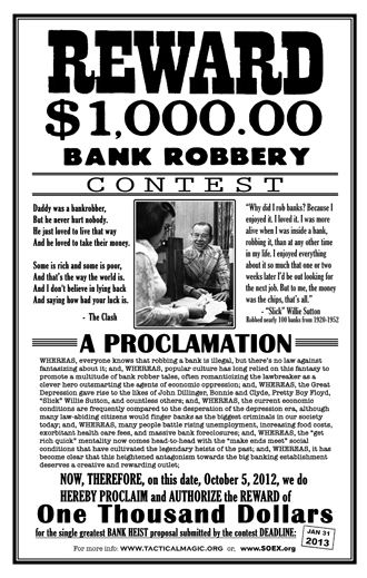 bank robbery contest